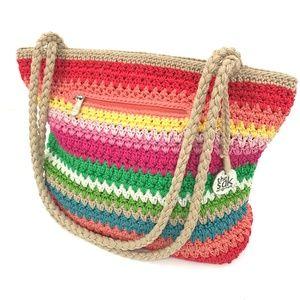 The Sak Crochet Tote Shoulder Bag Multicolor